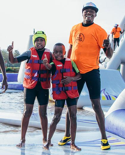 Stand Up Paddle Boarding (SUP) - Did you ever ask is there paddle board near me 5 - Maji Magic - Aqua Park - Nairobi Kenya - Top Things To Do Nairobi