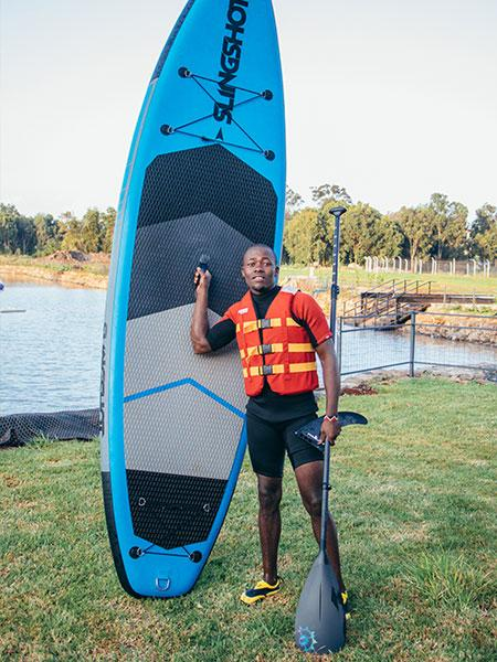 Stand Up Paddle Boarding (SUP) - Did you ever ask is there paddle board near me 10 - Maji Magic - Aqua Park - Nairobi Kenya - Top Things To Do Nairobi
